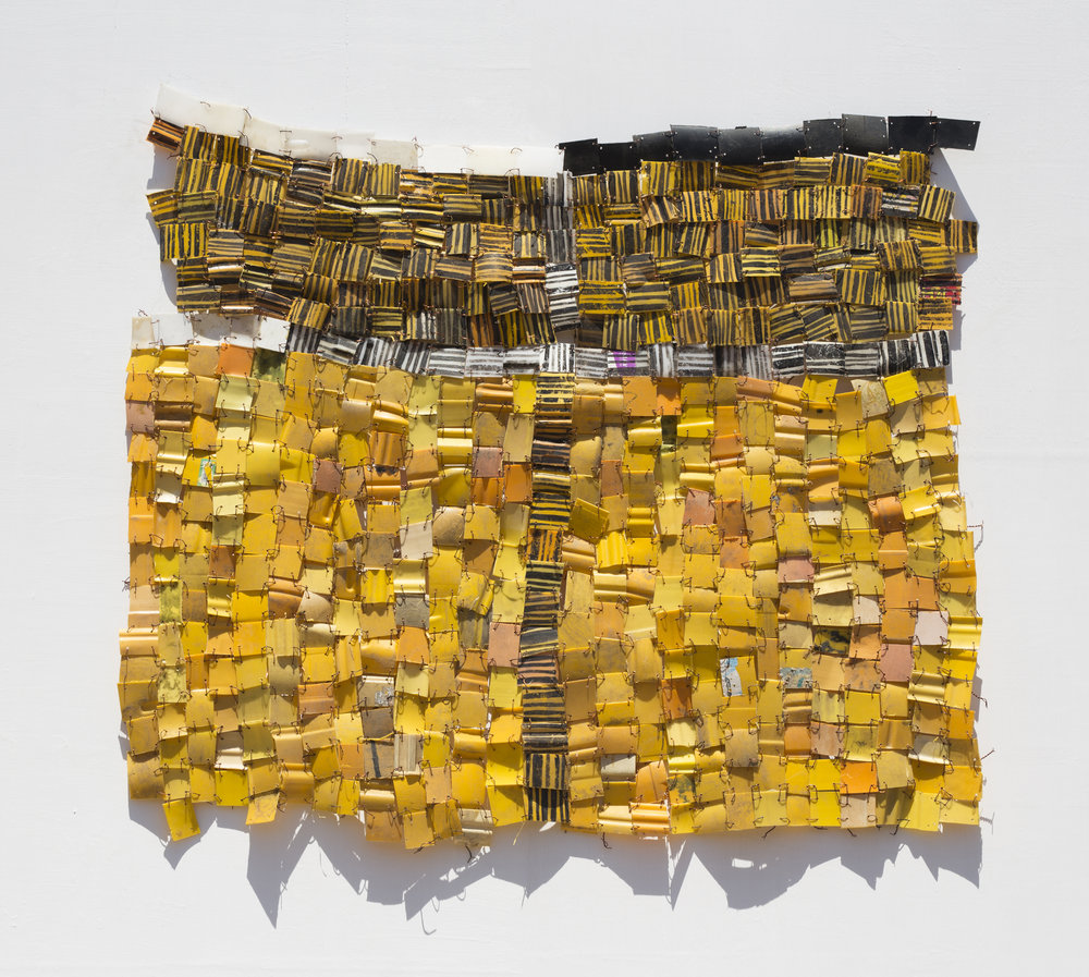 "SERGE ATTUKWEI CLOTTEY. ""AWAKEN IV"" (2018). PLASTICS, WIRES AND OIL PAINT. 44 X 49 IN. PHOTO: NII ODZENMA."
