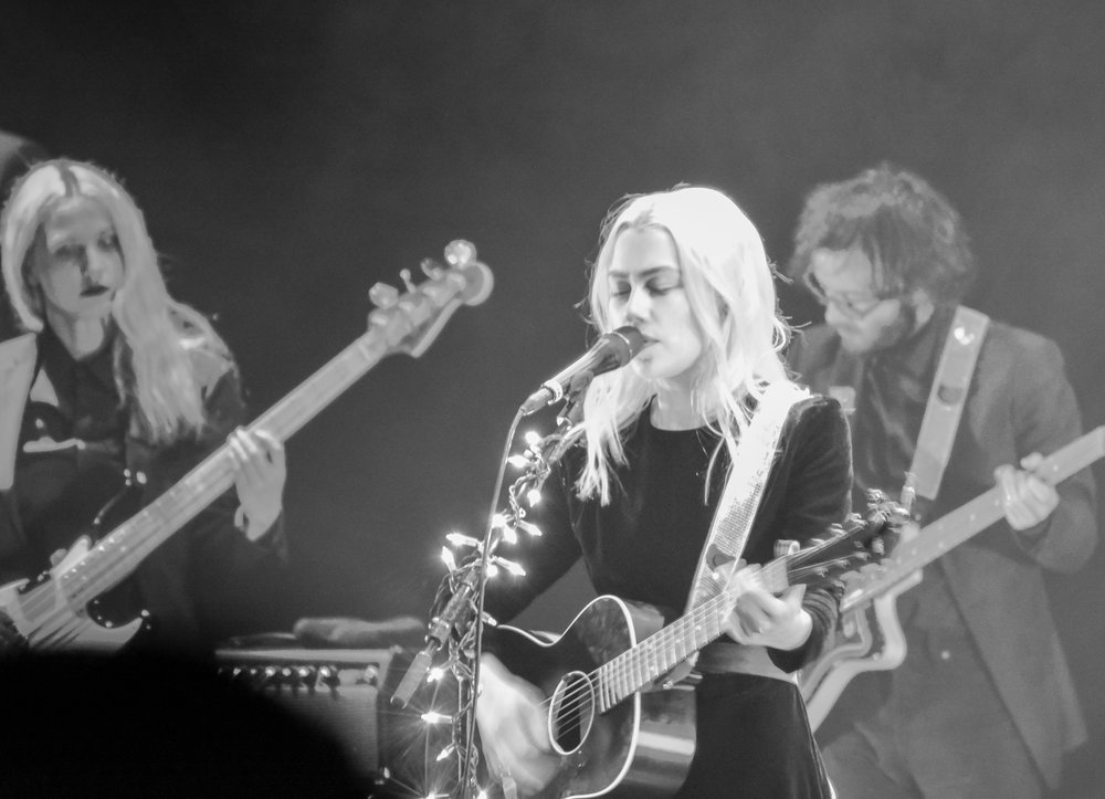 Phoebe Bridgers of boygenius at The Wiltern on Nov. 30. Photo by AnnMarie Barenchi.