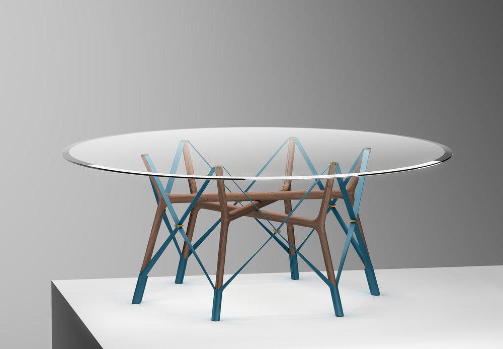 Serpentine table-by Atelier Oï