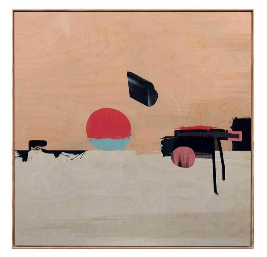 """Robot"" by Jonathan Ryan Harvey, 36x36 acrylic painting"