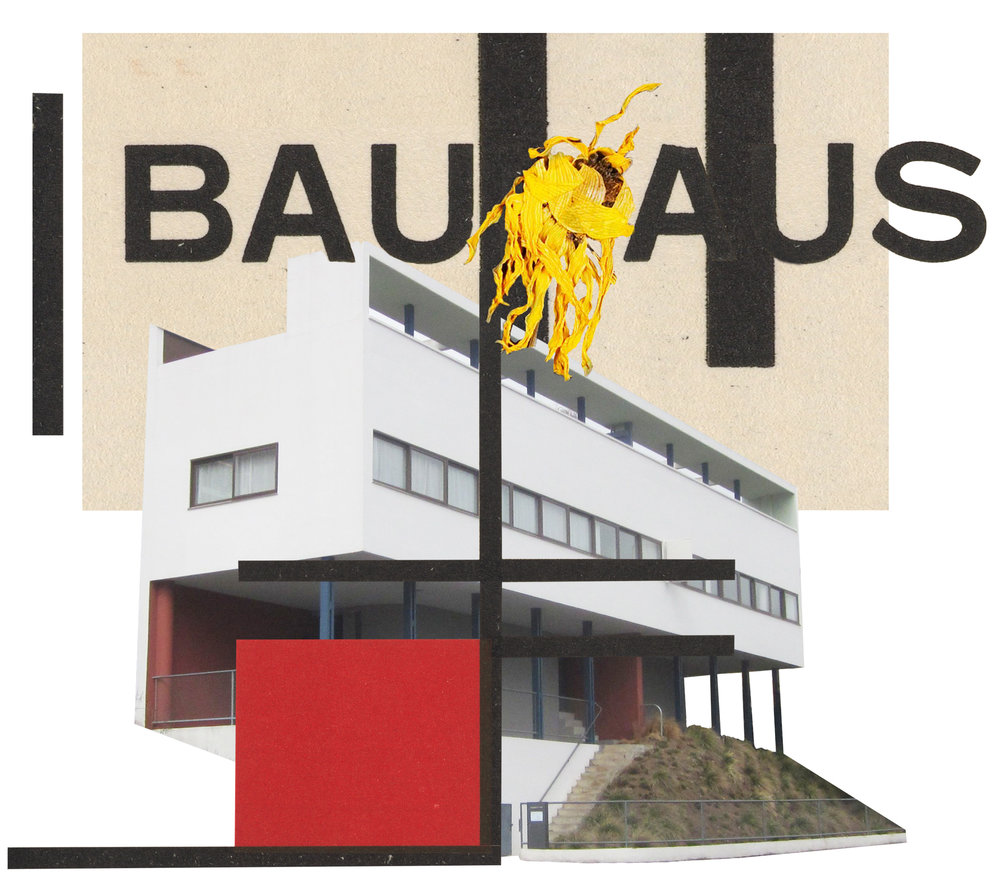 Photo-illustration of Corbusier's house at the Weissenhoff Estate by Anna Bu Kliewer at Breed London