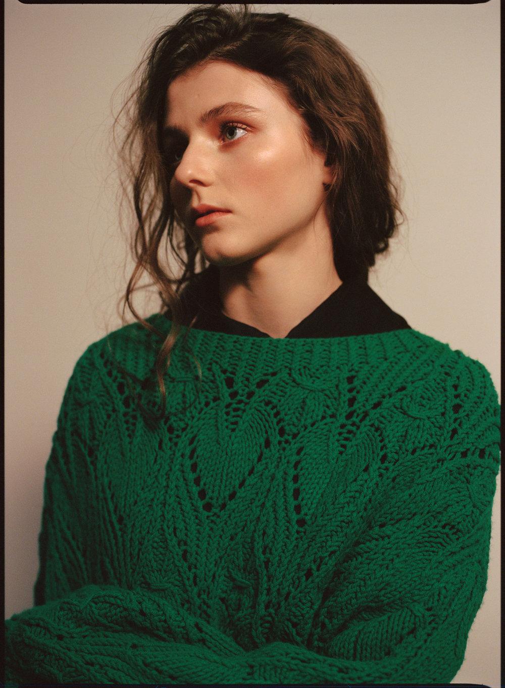 VIKA GAZINSKAYA   sweater and   MIU MIU     dress.