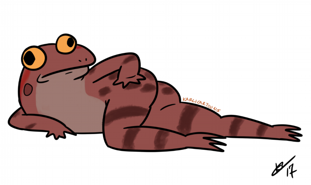 California Red Legged Frog                                                          Artist :Karli Melder   Twitter : @KarliCartoons   Website : http://www.karlicartoons.com