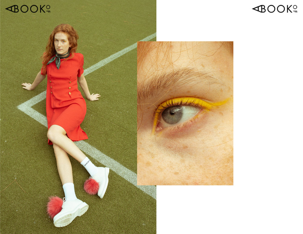 scarf & dress PRAG COPENHAGEN | socks MENTAL STUDIO | shoes JANE CHRISTINE MUNCH