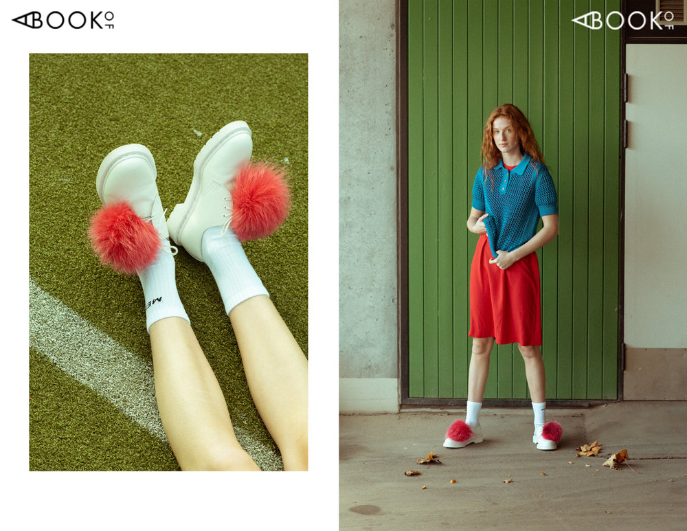 shirt VINTAGE | dress PRAG COPENHAGEN | socks MENTAL STUDIO | shoes JANE CHRISTINE MUNCH