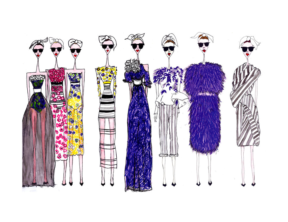 Illustrator: Julie McGrath  Wardrobe Credits: Galliano's Dior