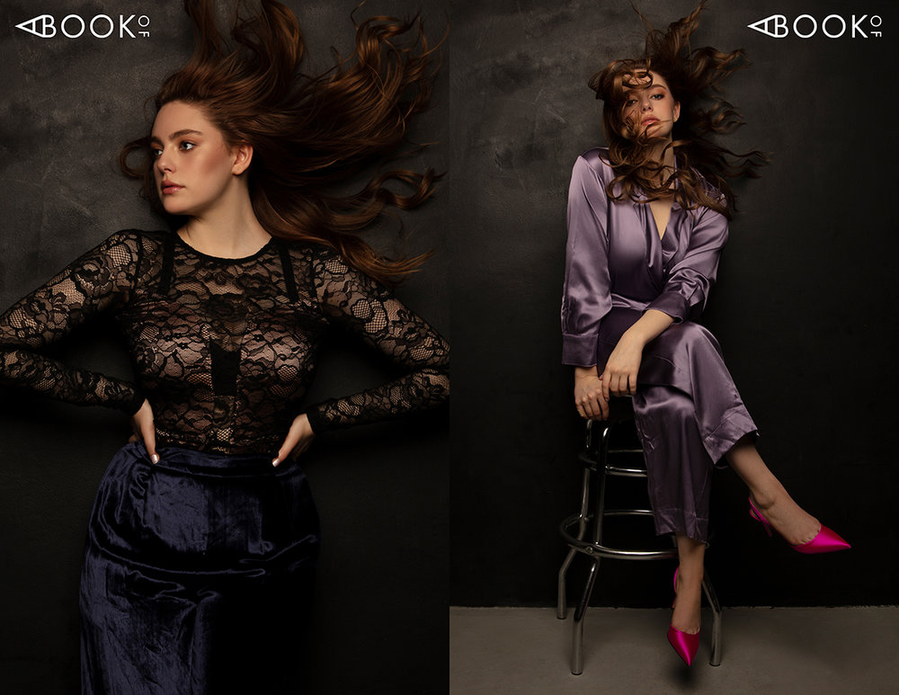Left: Lace bodysuit & pants -  Fleur Du Mal  Right: Jumpsuit -  Christine Alcalay , Shoes -  SJP