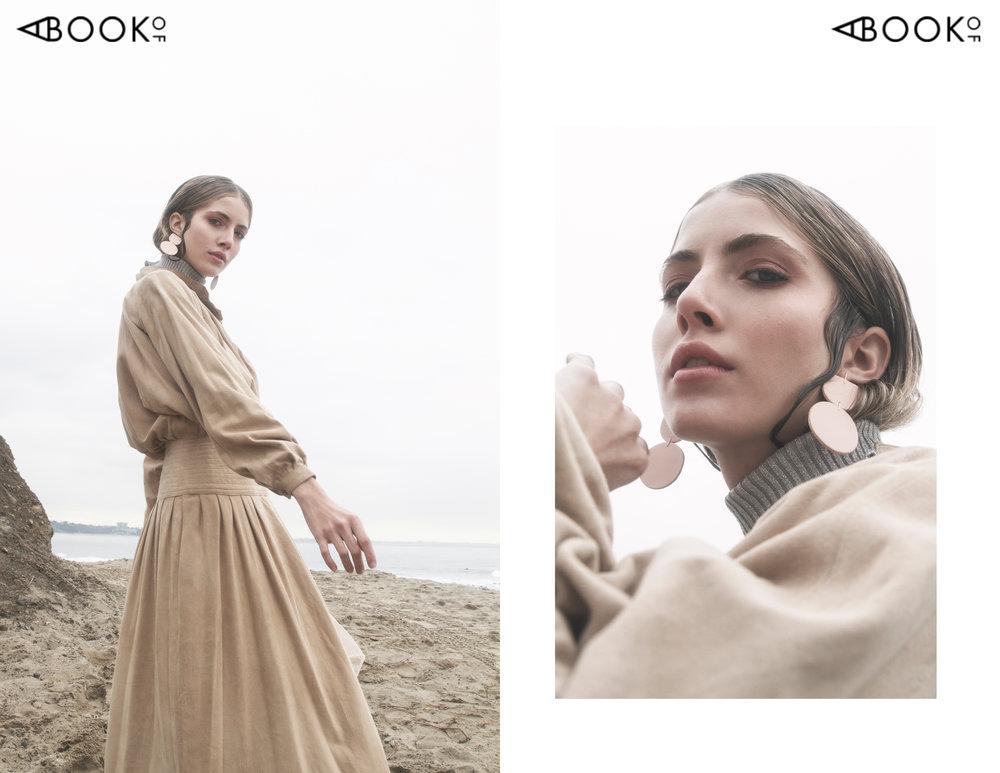 Turtleneck: La Loupe Vintage, Dress: La Loupe Vintage, Slip dress: La Loupe Vintage, Earrings: Dear Survivor