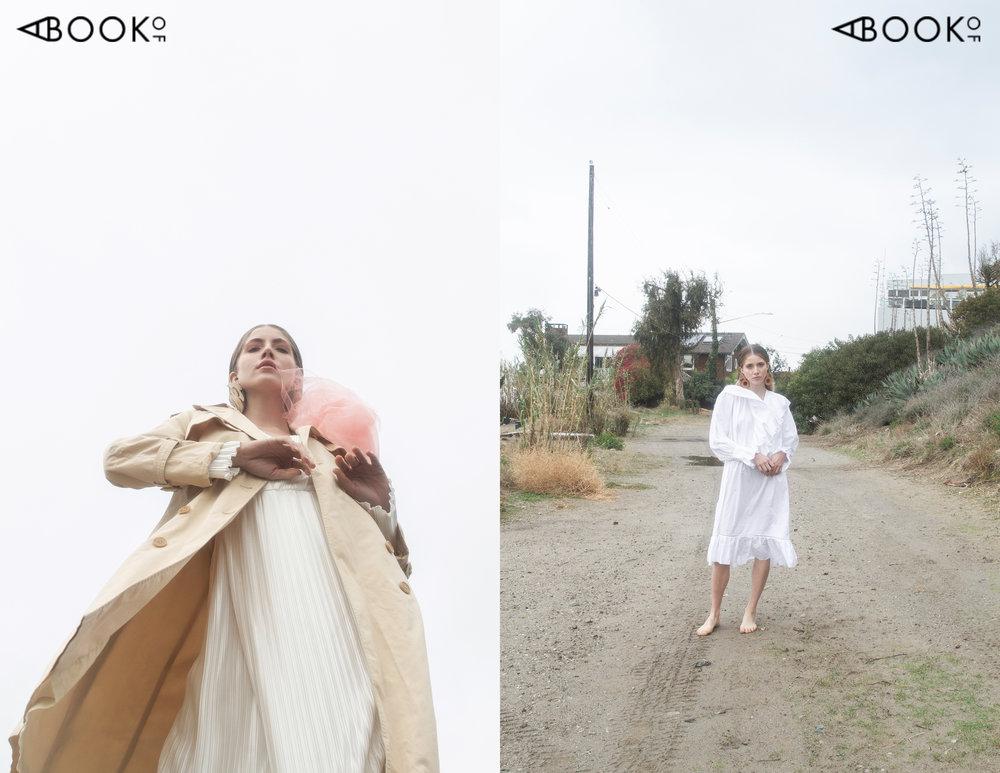 Left Dress: Van de Vort, Left Jacket: La Laoupe Vintage, Left Earrings: Dear Survivor, Right Dress: Lee Mathews, Right Earrings: Dear Survivor