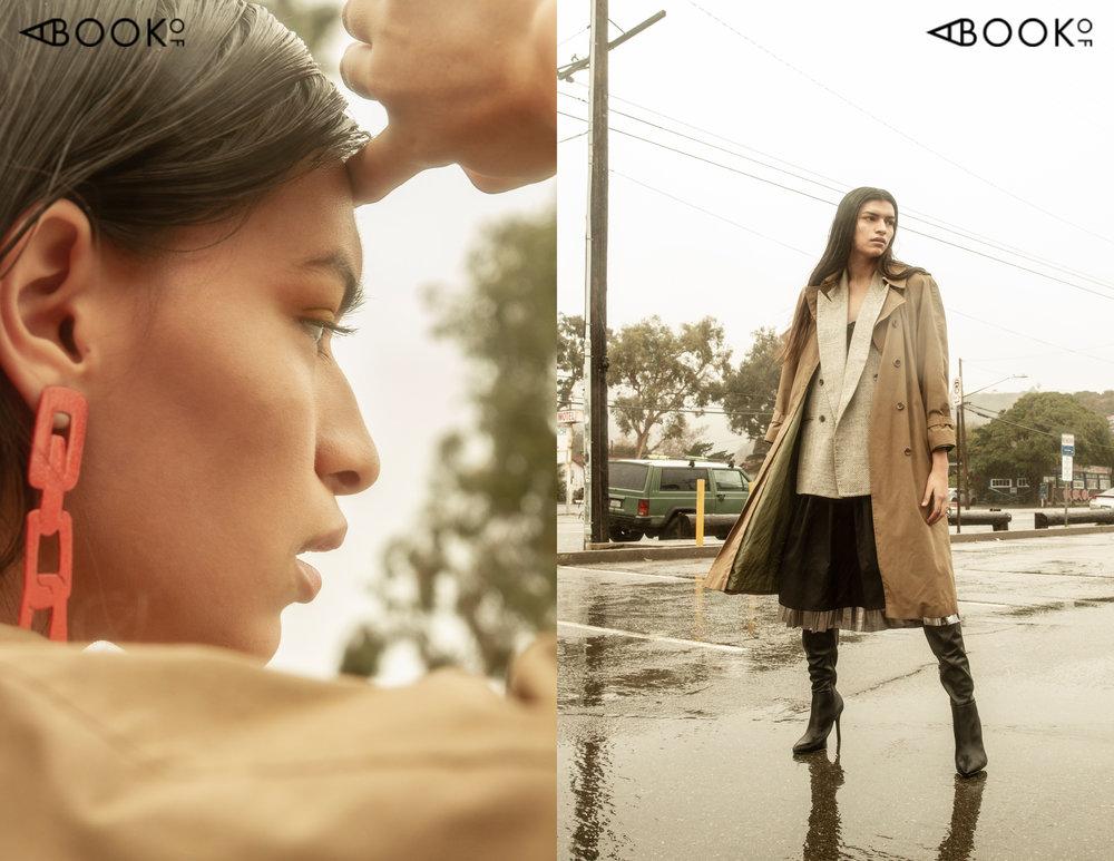 Dress: Textile Haus, Vest: Vintage, Skirt: Topshop, Coat: Vintage, Boots: Charles David, Earrings: Georgina Trevino