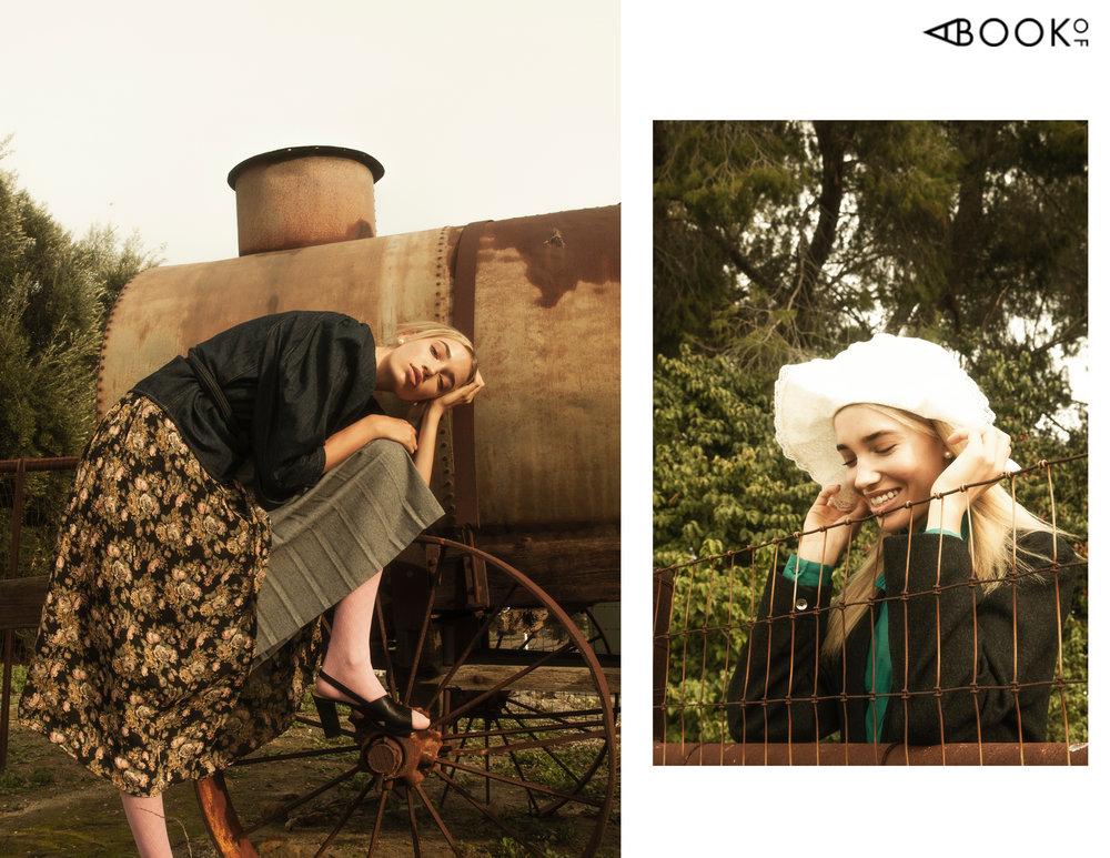 (Left) Top: La Vie Rebecca Taylor, Dress: Vintage, Skirt: Vintage, Shoes: Marc Fisher LTD