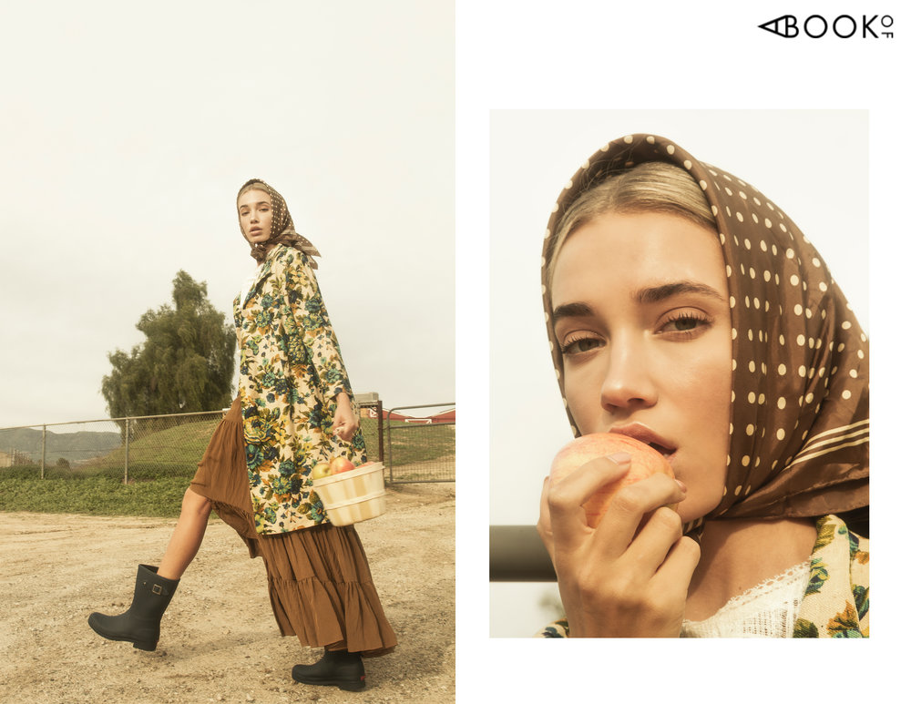 Coat: Vintage, Scarf: Vintage, Skirt: 3.1 Phillip Lim, Top: La Vie Rebecca Taylor, Boots: Hunter