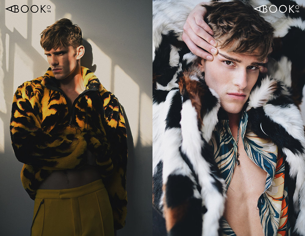 LEFT:  Faux Fur Pullover -  Aries , Pants -  Bottega Veneta   RIGHT:  Faux Fur Coat -  Kenzo , Shirt -  Dries Van Noten