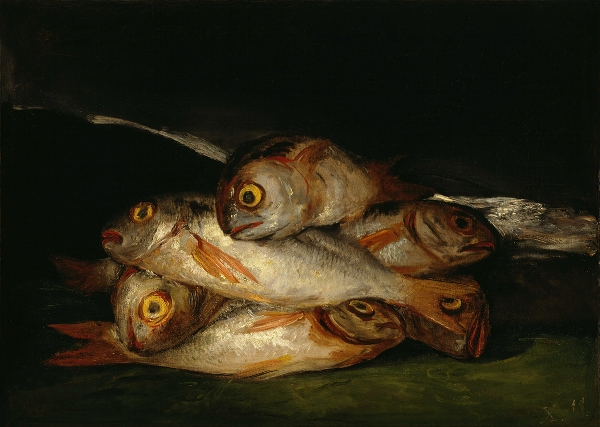 Fig 1. Goya, Still Life with Golden Bream, 1808