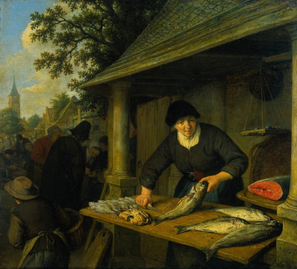 Fig 6. Adriaen van Ostade, The Fishwife, 1673
