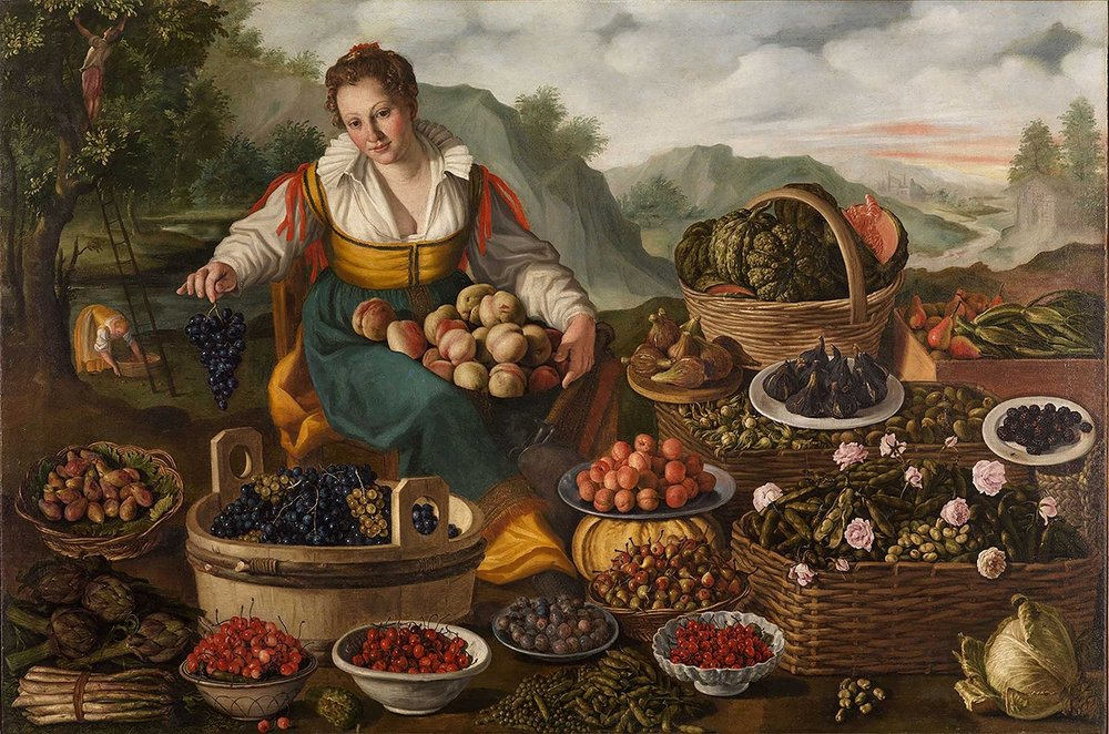 Fig 7.  Vincenzo Campi,  The Fruit Seller , c.1580