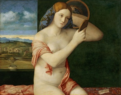 Fig. 3 Giovanni Bellini,  Young Woman at her Toilette , 1515