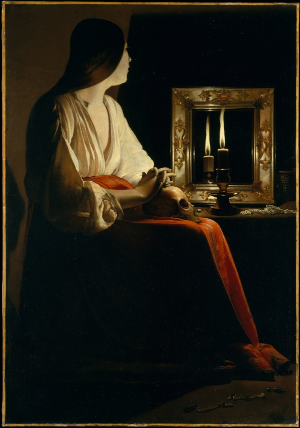 Fig. 1 Georges de la Tour,  Magdalene with Two Flames , c. 1640