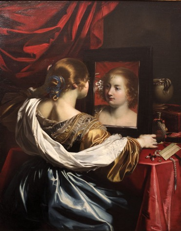 Fig. 5 Nicolas Régnier,  Woman at a Mirror  or  Vanity , 1626