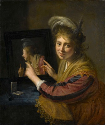 Fig. 6 Paulus Moreelse,  Girl with a Mirror , 1632