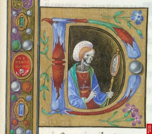 Fig. 11  Memento Mori Initial , c. 1480 .