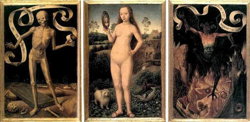 Fig. 13 Hans Memling, Triptych of Earthly Vanity and Divine Salvation, c. 1485
