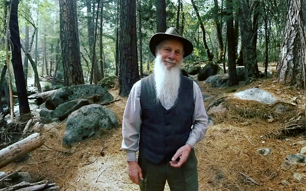 Lee Stetson as John Muir in A YOSEMITE WELCOME.