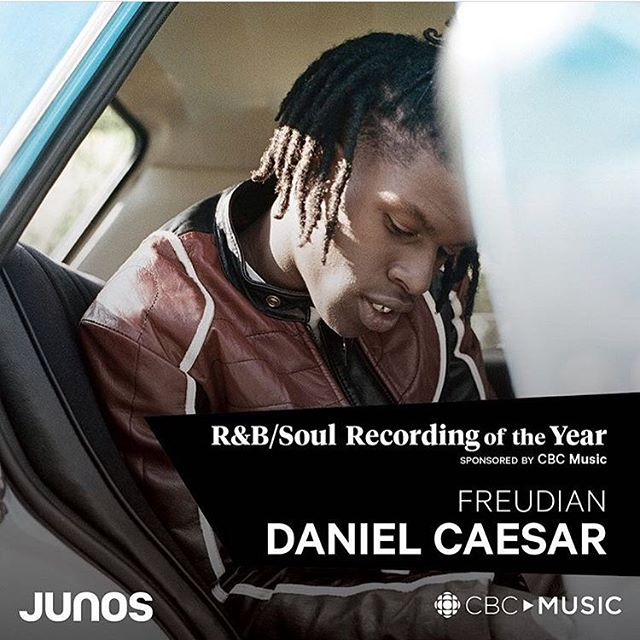 ...And The Winner For Best R&B / Soul Recording Goes To Freudian by @DanielCaesar At @TheJunoAwards 🏆 #DanielCaesar #Junos
