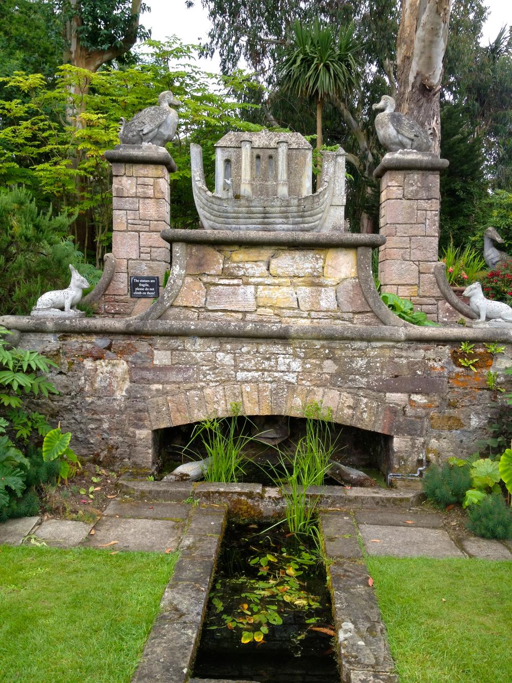 Noah's Ark Fountain at Mount Stewart Estate, Northern Ireland