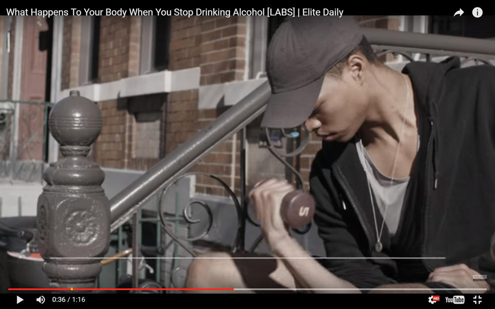 """ELITE DAILY commercial starring Scott Camaran """"What happens to your body when you stop drinking Alcohol"""" https://youtu.be/WKHNl6U3XMw"""