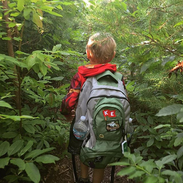 @craigalan3 trekking through the pine thickets with his little adventure buddy!