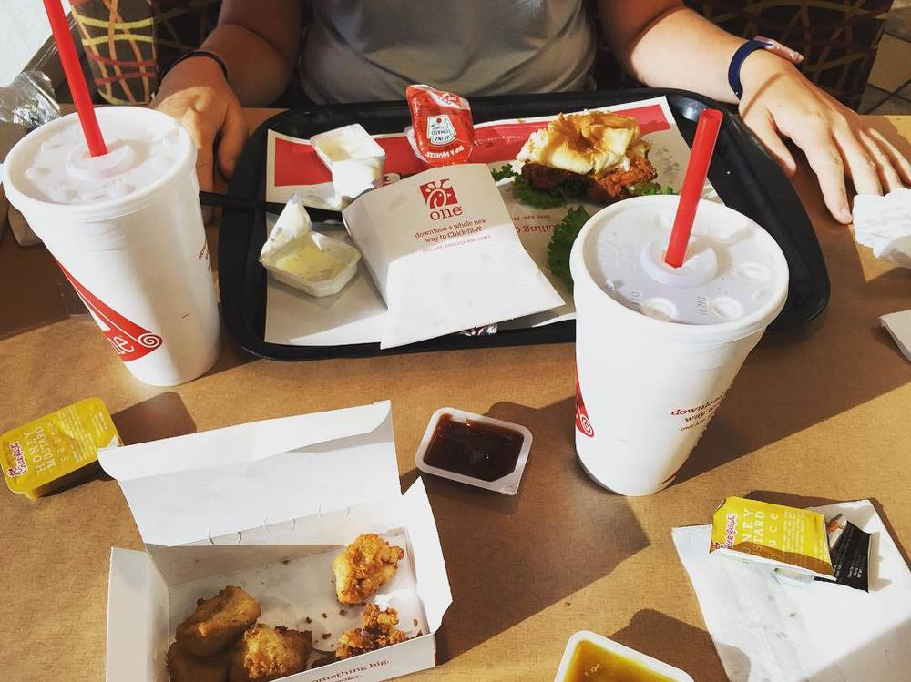 @sarahchivvis Park? Nah. Picnic? Almost. Do we care? Nope! Can't get mad at Chick-fil-A!