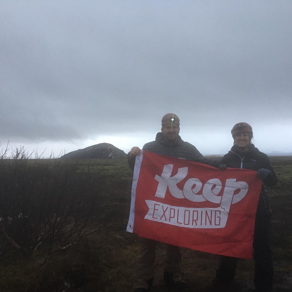 @rob_thomson and @the_other_jt_ flying the flag after lava caving in beautiful Iceland