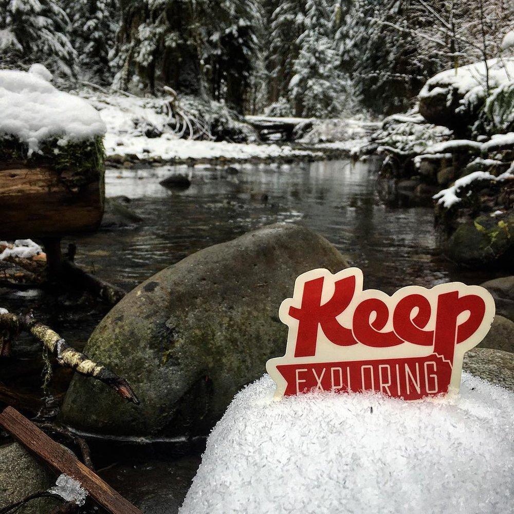 @kimberlydominguezzz took her sticker to a winter wonderland at Mount Rainier National Park