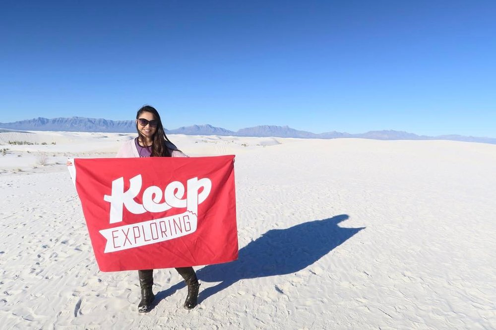 Beautiful colors in a beautiful location--@bmayfojas chased the flag to White Sands National Monument on her trip to Seattle
