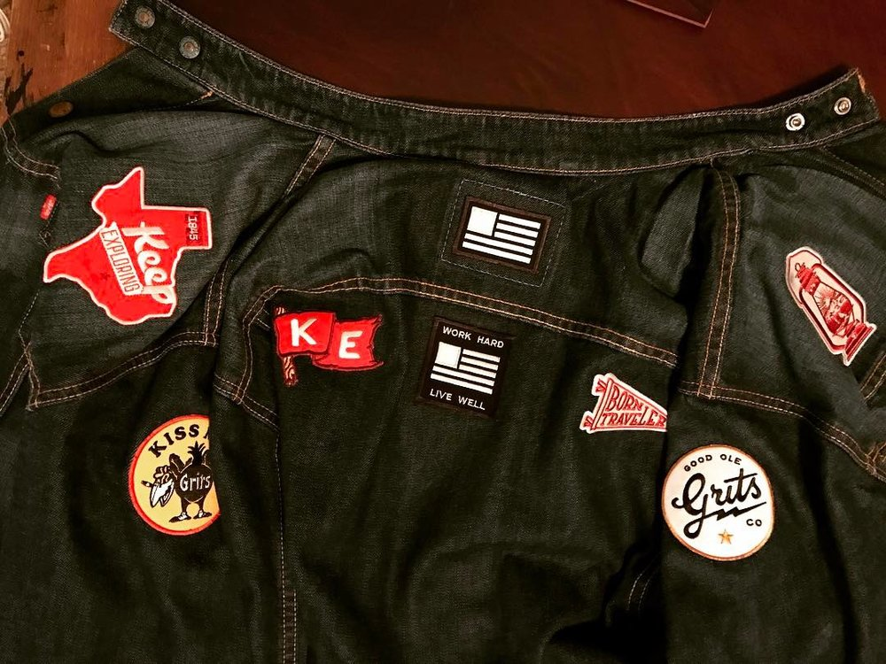 @elmannylo showing off our favorite patches on this sweet jacket