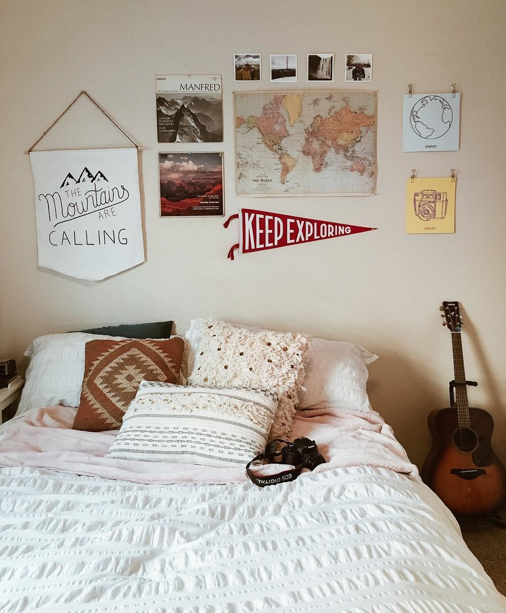 The perfect addition to an adventure-decorated wall is our classic pennant, @kaleynbell's got that right