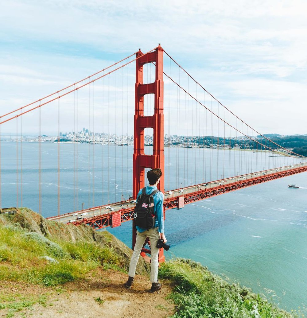 Can you spot a KE patch on @jacksonkthomas' backpack at the iconic spot in San Fran?