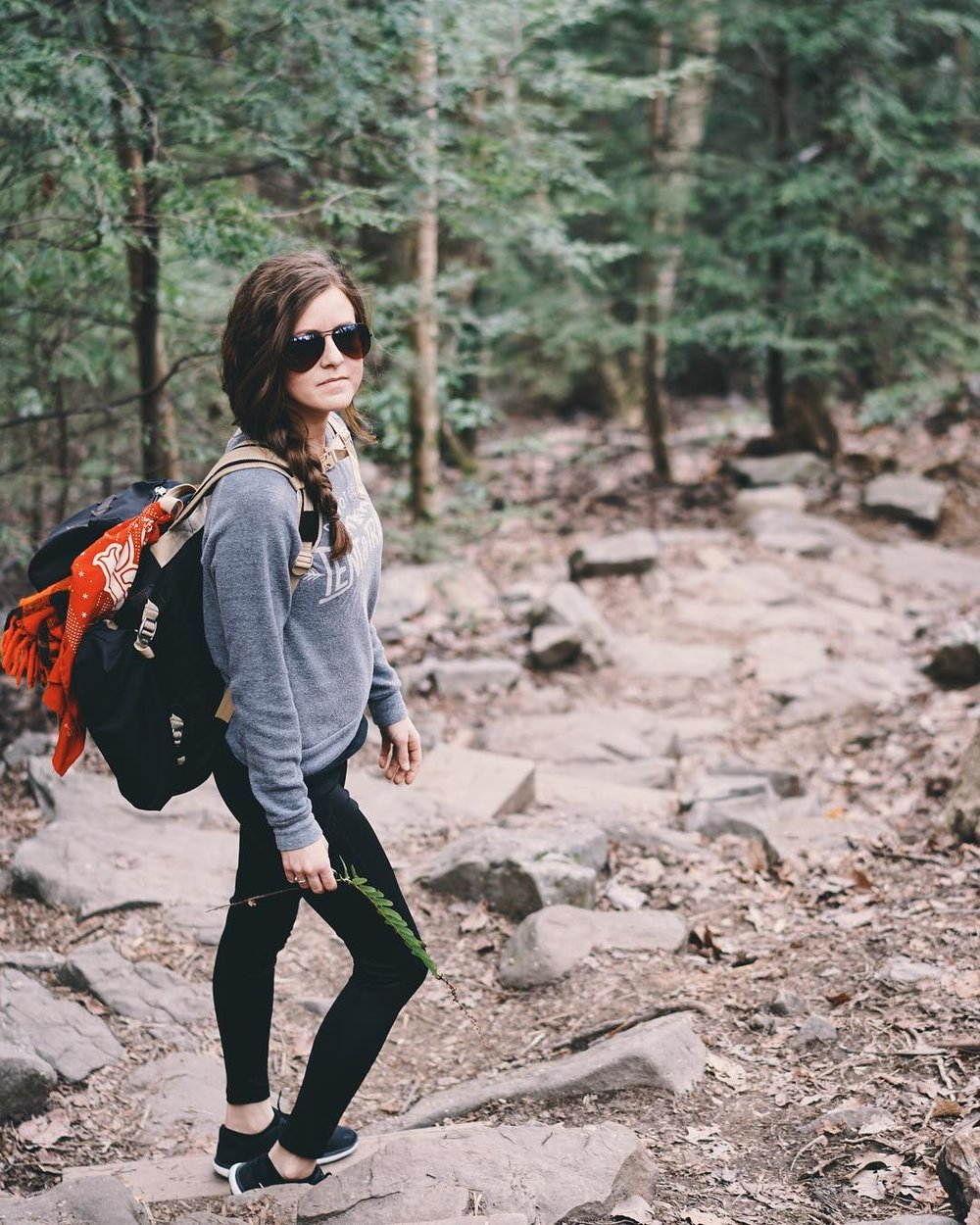 @tiff.ae takes her Keep Exploring bandana with her as she hikes in her favorite place -- the mountains