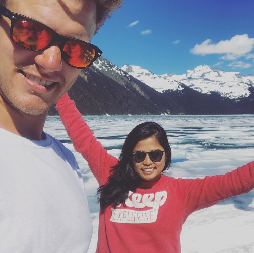 @katdoingstuff used her KE sweatshirt to keep her warm in the mountains by Garibaldi Lake