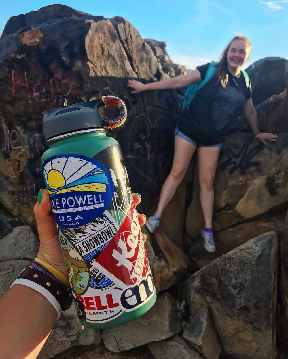 @haileh and her pals climbed to new heights, and took our iconic sticker along with the journey