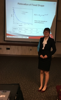 Qinyuan presenting her work on SMPs