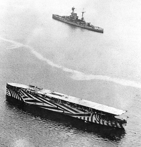 HMS Argus, 1918.