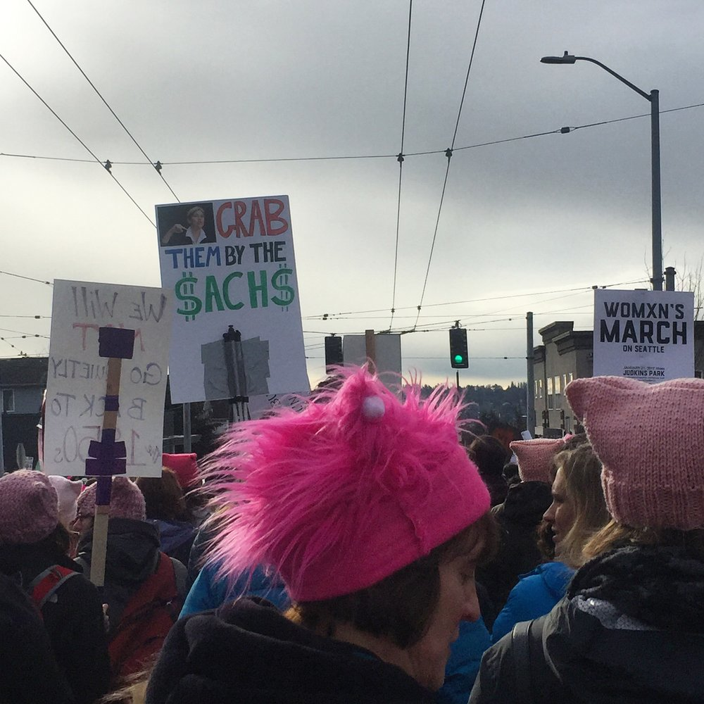FROM THE SEATTLE WOMXN'S MARCH