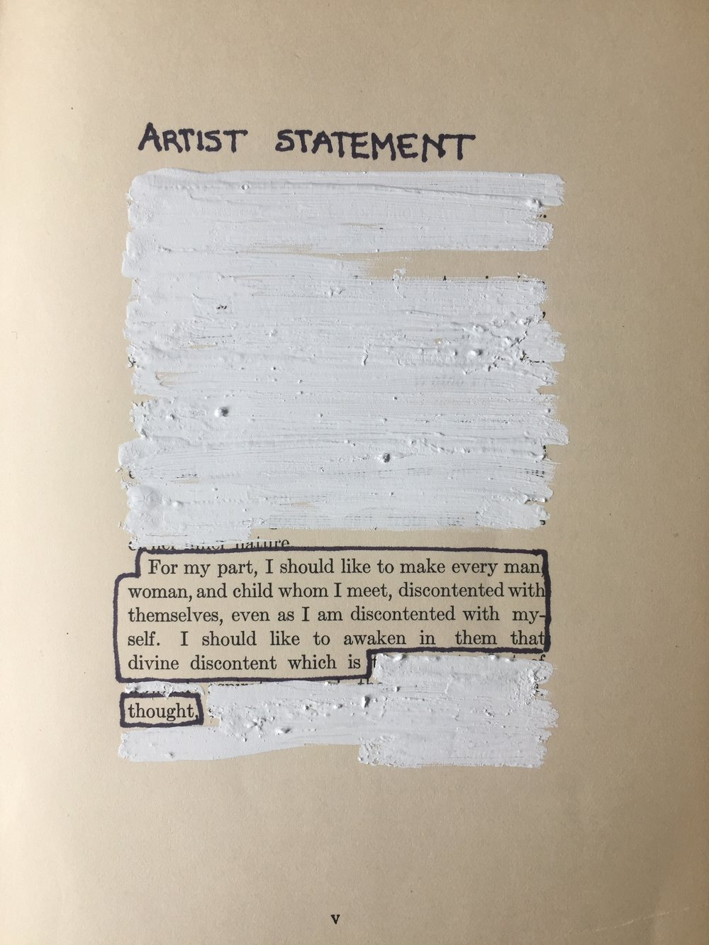 ARTIST STATEMENT / CATHERINE BRESNER