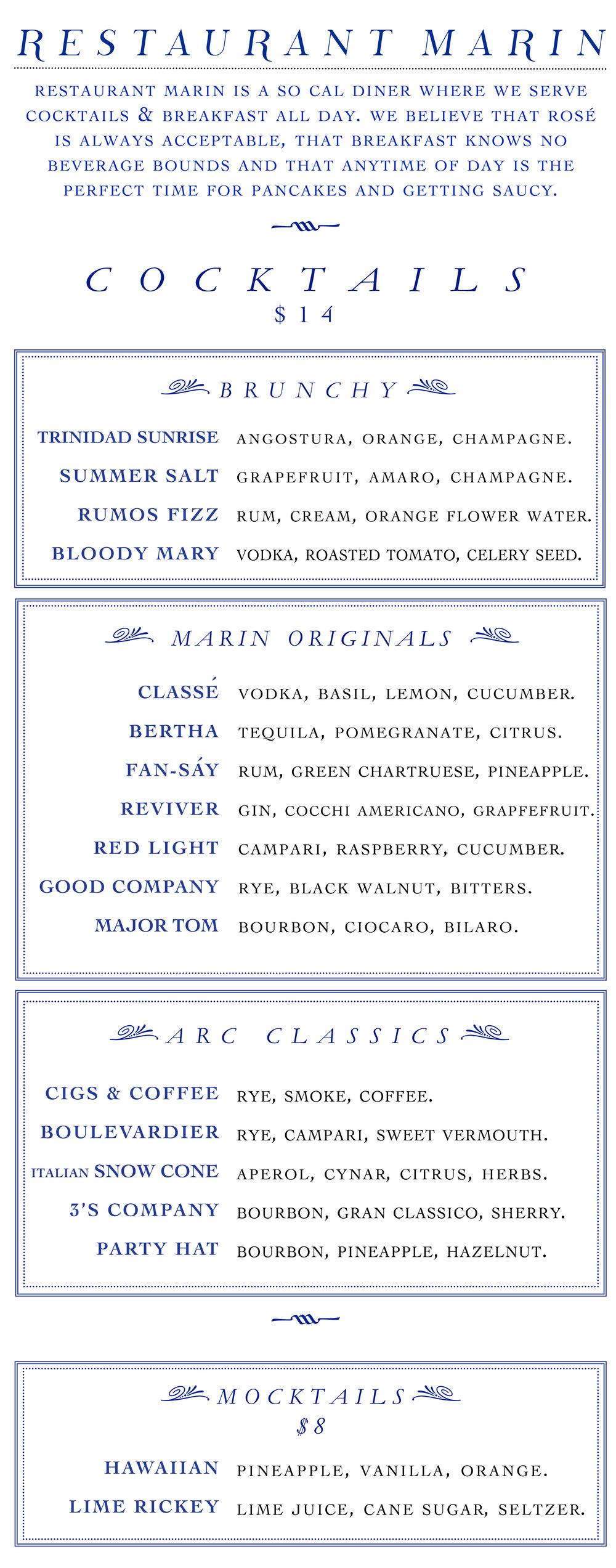 restaurant marin cocktails 8-4-2017