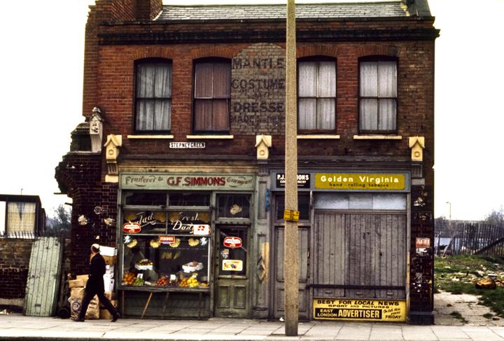 Stepney Green Shops, London 1971