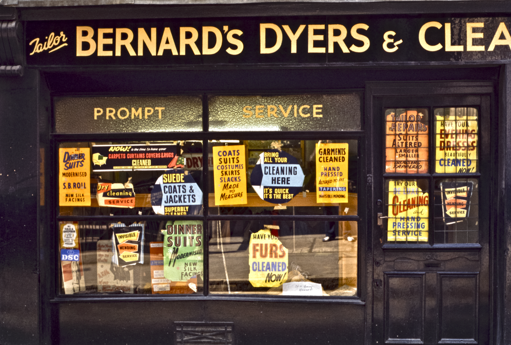 Soho Bernard's Dyers, London 1971