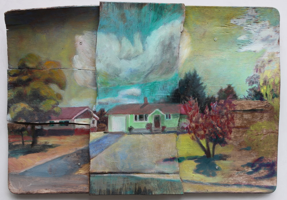 363 Beech Avenue, oil on wood, 16''x24'' 2016.