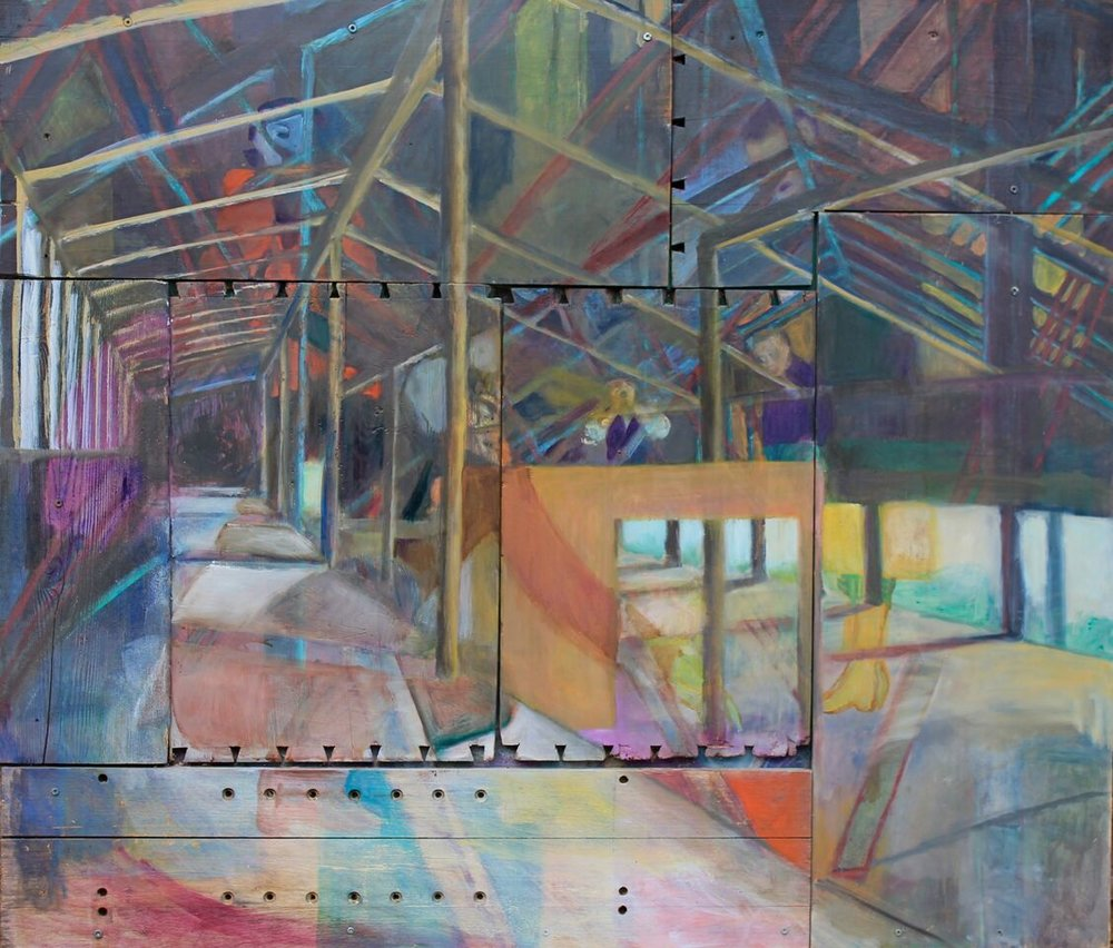 Attic, oil on wood, 38''x40'' 2011.JPG